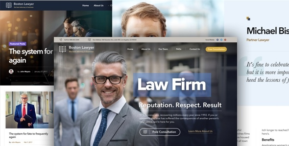 Lawyer - Law firm and Legal Attorney WordPress Theme            TFx