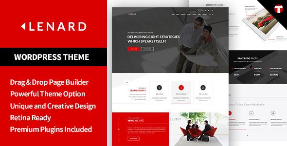 Lenard - Onepage Business Responsive WordPress Theme            TFx
