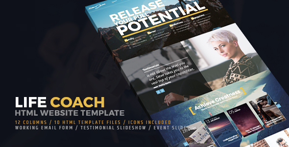 Life Coach HTML Website Template            TFx
