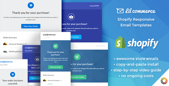 Lil Commerce - Shopify Responsive Email Templates            TFx