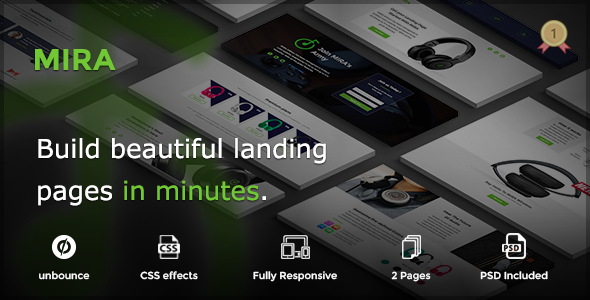 MIRA – Marketing Multipurpose Unbounce Landing Page            TFx
