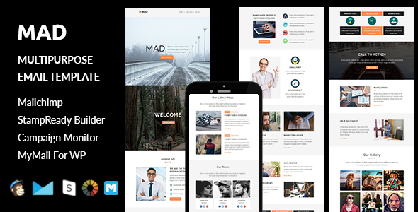 Mad - Multipurpose Responsive Email Template with Stampready Builder Access            TFx