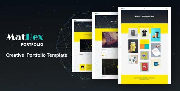 MatRex Creative Portfolio Template            TFx
