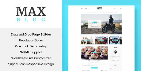 Max Blog - Minimal WordPress Blog Theme            TFx