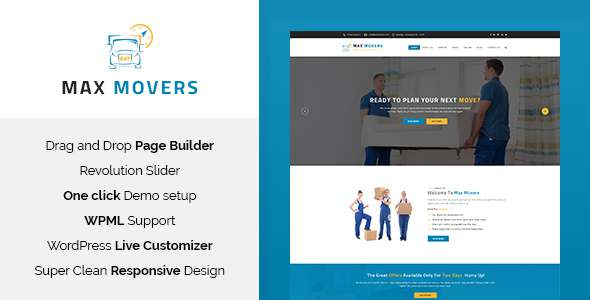 Max Movers - Moving Company WordPress Theme            TFx