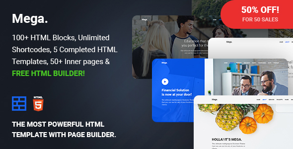 Mega - Multipurpose Responsive Template with Page Builder            TFx