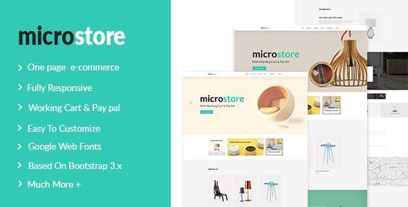 Microstore One Page Multi Purpose eCommerce Templates            TFx