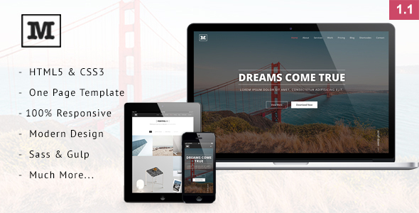 Mild - Multipurpose One Page HTML Template            TFx