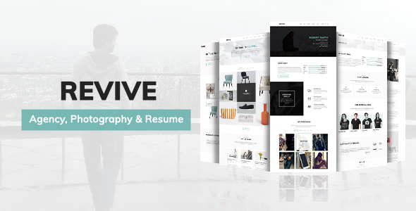 Minimal Portfolio Template for Agency, Photography and Resume – Revive            TFx