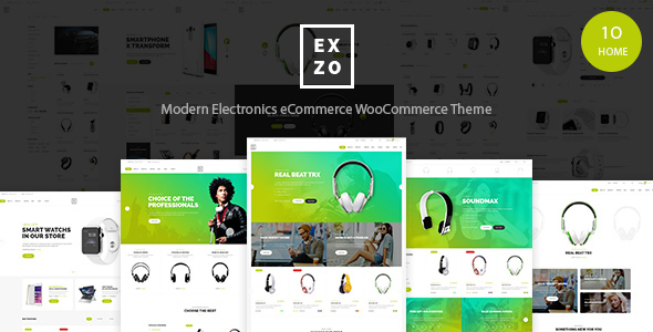 Modern Electronics eCommerce WordPress Woocommerce Theme - Exzo            TFx
