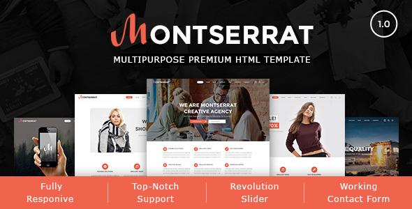 Montserrat - Multipurpose Modern HTML Template            TFx