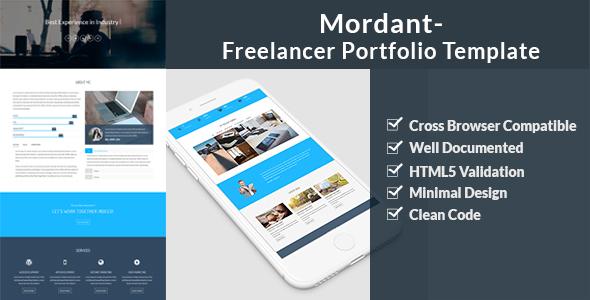 Mordant – Freelancer Portfolio Template            TFx