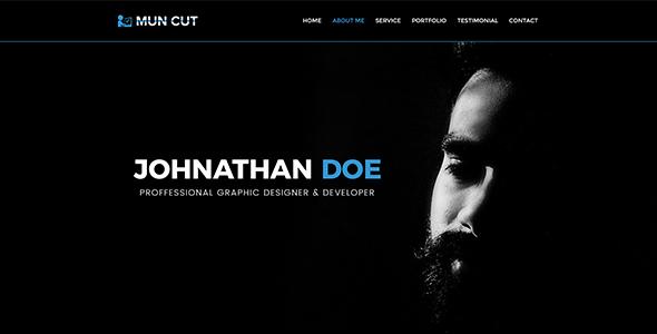 Mun Cut - Personal Portfolio PSD Template            TFx