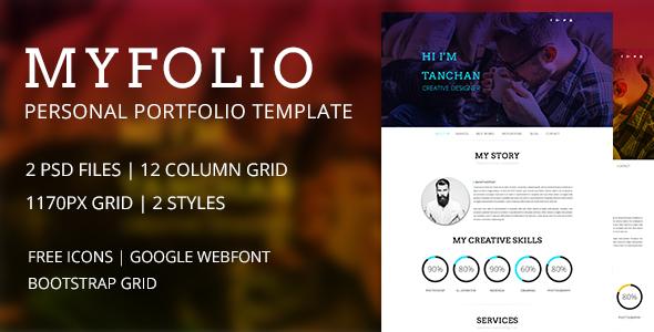 My Folio - Portfolio PSD Template            TFx