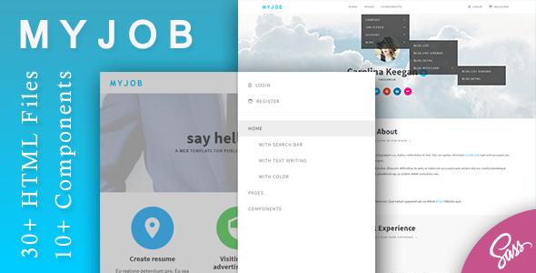 Myjob - Job Postings HTML Template            TFx