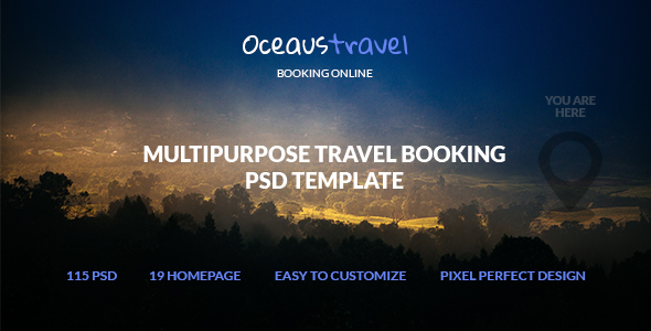 OCEAUS - Multipurpose Travel Booking PSD Template            TFx