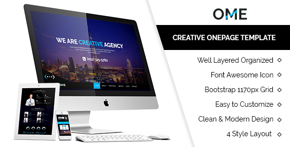 OME Creative Onepage Template            TFx
