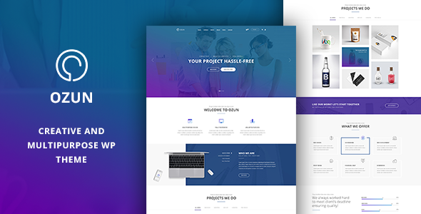 OZUN - Creative and Multipurpose WP Theme            TFx