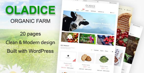 Oladice - Organic Farm WordPress Theme            TFx