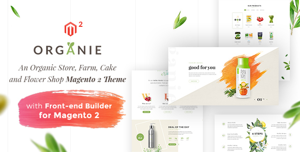 Organie - An Organic Store, Farm, Cake and Flower Shop Magento 2 Theme            TFx