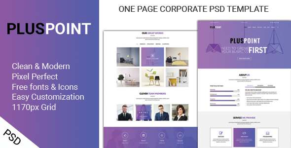 PLUSPOINT - ONE PAGE CORPORATE PSD TEMPLATE            TFx