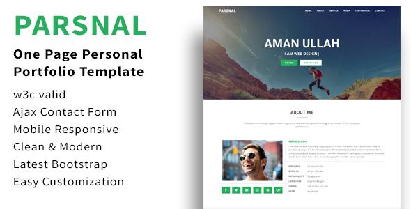 Parsnal - Personal Portfolio html5 template            TFx