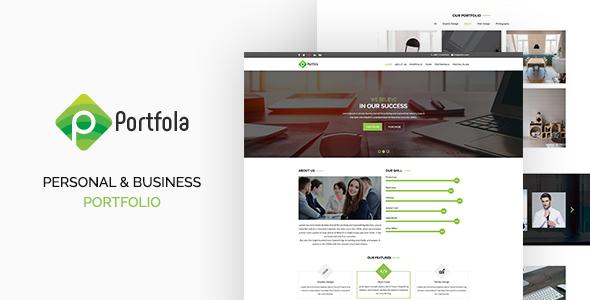 Portfola  - Portfolio PSD Template            TFx