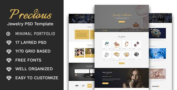 Precious - Jewelry Store PSD Template            TFx