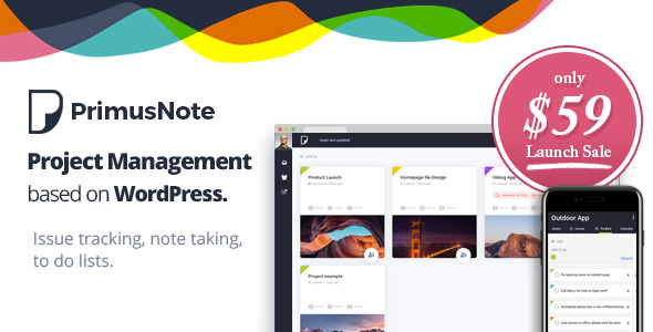 PrimusNote - Project Management & Team Collaboration based on WordPress            TFx