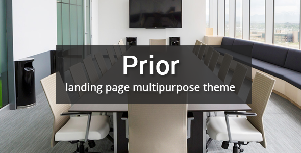 Prior – Multipurpose Responsive Bootstrap Landing page            TFx