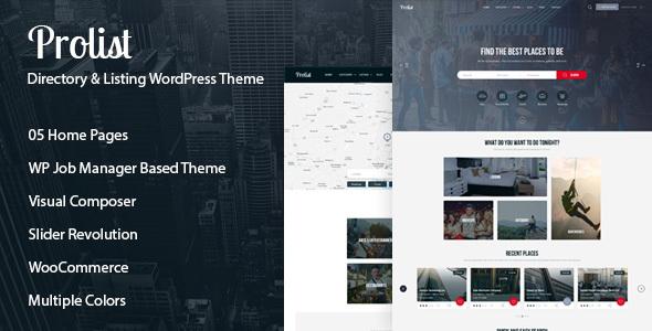 Prolist - Directory & Listing WordPress Theme            TFx