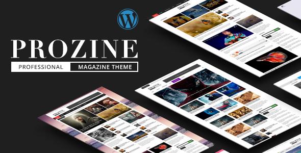 Prozine - News & Magazine WordPress Theme            TFx