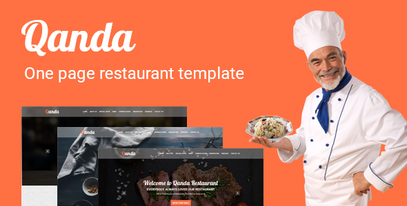 Qanda - One Page Restaurant PSD Template            TFx