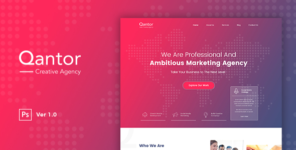Qantor - Creative Agency Office PSD Template            TFx