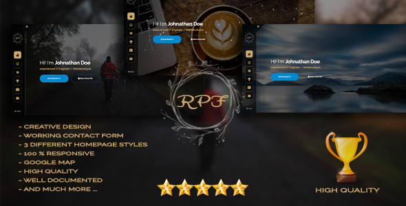 RPF - Creative Responsive Personal Resume / Portfolio            TFx