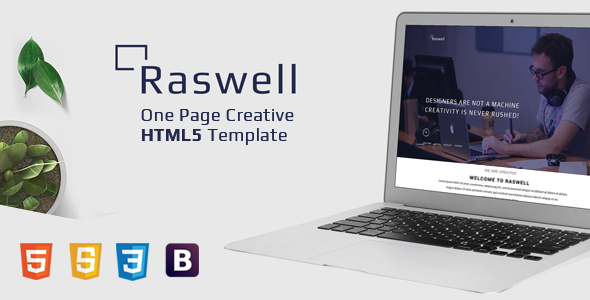 Raswell - One Page Creative HTML5 Template            TFx