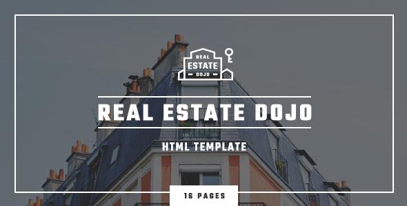 Real Estate Dojo - HTML/CSS real estate agency website template            TFx