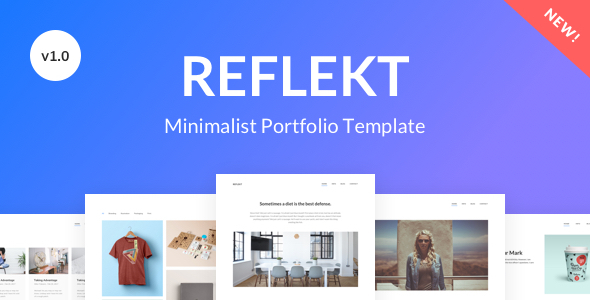 Reflekt – Minimalist Portfolio Template            TFx