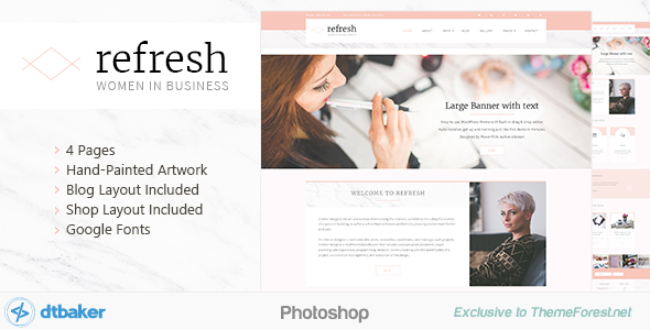 Refresh - Women in Business - Shop & Blog PSD            TFx
