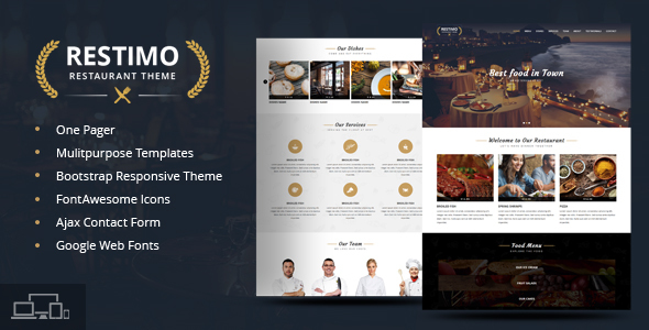 Restimo | A Premium Restaurant, Cakes and Coffee Shop Template            TFx