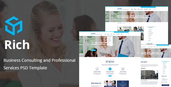 Rich - Business Consulting and Professional Services PSD Template            TFx