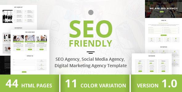 SEO Friendly - SEO Agency, Social Media Agency, Digital Marketing Agency Template            TFx