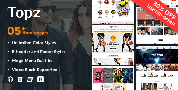 SM TopzStore - Responsive and Customizable Magento 2 Theme            TFx
