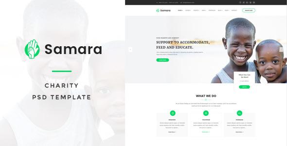 Samara - Charity PSD Template            TFx