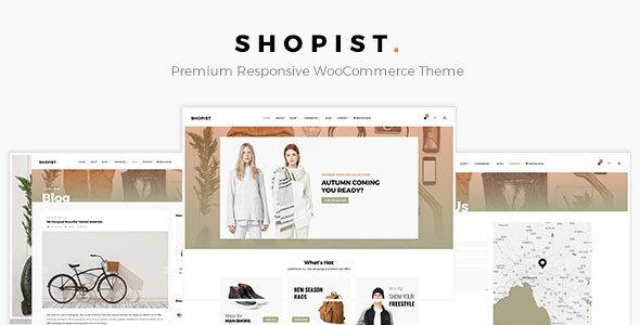 Shopist - Responsive Stylish eCommerce WordPress Theme            TFx