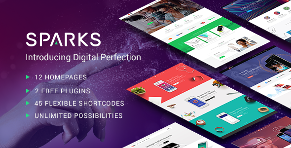 Sparks - A Modern Theme for App Creators, Startups, and Digital Businesses            TFx