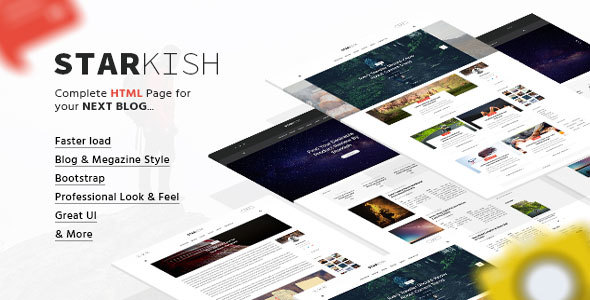 StarKish - Creative HTML5 Blog Template            TFx