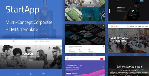StartApp - Multi-Purpose Corporate HTML5 Template            TFx