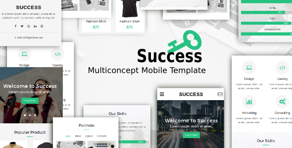 Success - Multiconcept Mobile Template            TFx