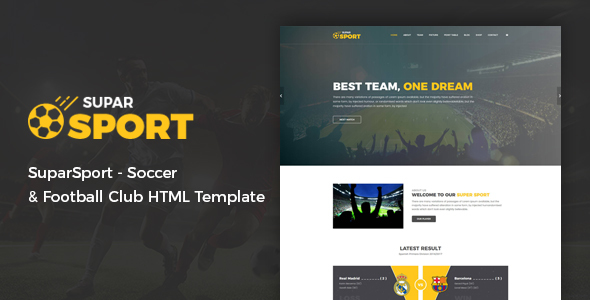 SuparSport - Soccer and Football Club HTML Template            TFx